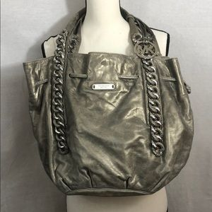 Michael Kors Metallic Chain Tote with Dust Bag